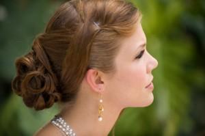 Wearing earrings